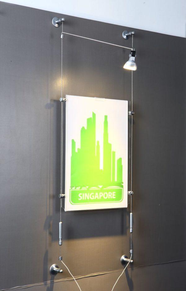 Тросовая система с подсветкой