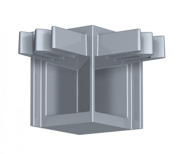 Угловой соединитель для рельса Newly R10 - Серый