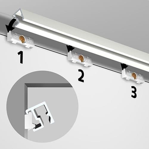 Artiteq Contour Rail белый грунт+ установочный комплект 2.0м