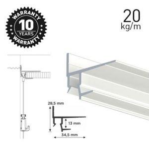 Artiteq Shadowline Masonry Rail 2.5m 9.5mm